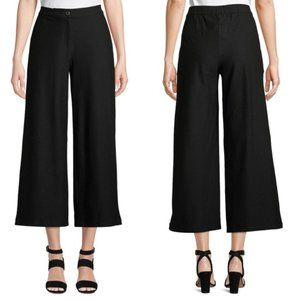 Eileen Fisher Wide Leg Stretch Crepe Ankle Pant 14